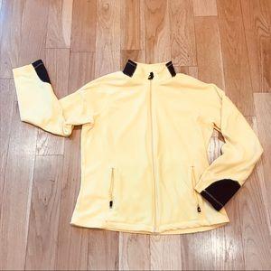 Lands' End Full Zip Fleece in yellow
